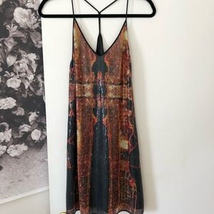 Clover Canyon Dubai in the Sky Sequin Dress XS